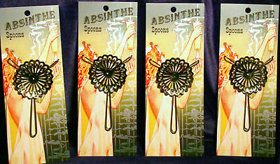 New Absinthe Spoon Set of 4, imported round style #27