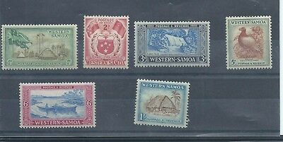 Western Samoa stamps. Some of the 1952 series MH. Includes the 5d. (B977)