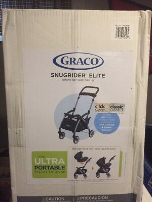 Graco Snugrider Elite Infant Car Seat Frame Carrier Free Shipping Black