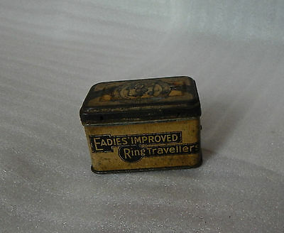 Vintage Eadies improved Ring Travellers tin 8cm x5cm x5cm