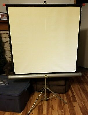 Tower 40 X 40 Vintage Projector Screen With metal stand Screen Tripod