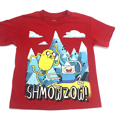 Adventure Time T Shirt Boys Small Red Short Sleeve Finn Jake Cartoon Network