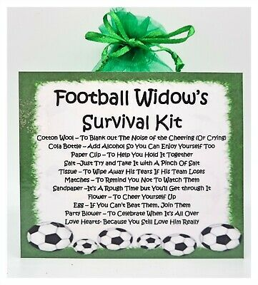 Football Widow's Survival Kit -The Perfect Greetings Card Alternative!