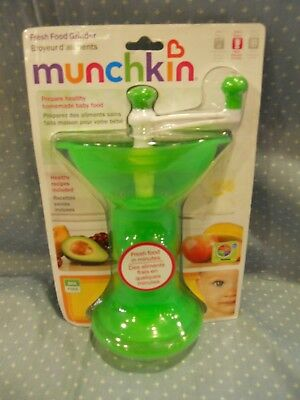 Munchkin Baby Food Grinder, Fresh Food In Minutes, Recipes Included BPA Free