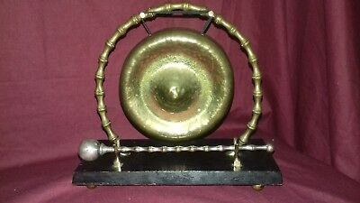 Antique UK Brass Edwardian Victorian Townshends Chinoiserie Table Dinner Gong