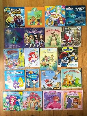 Lot 20 Kids Picture Books Wiggles Strawberry Shortcake Disney T7
