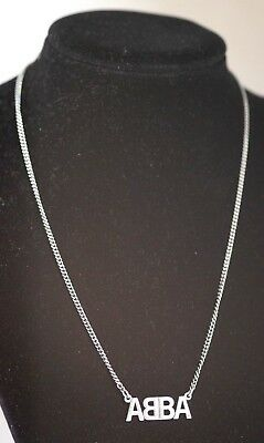 Vintage ABBA Necklace Sporrong Sweden 1970's Made for Fan club