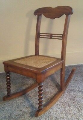 Antique Victorian Rocking Chair - Ladies Sewing Rocker - Excellent Condition