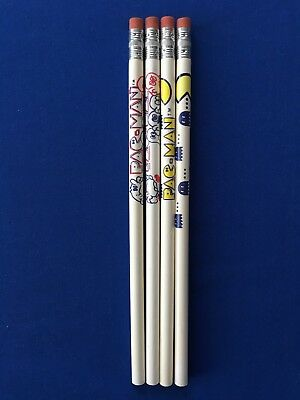 NEW Lot of (4) 1980 Empire PAC-MAN Pencils Old Store Stock