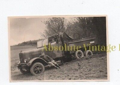 Ww2 Military Transport Photo German Six Wheel Personnel Truck Vintage 1940S