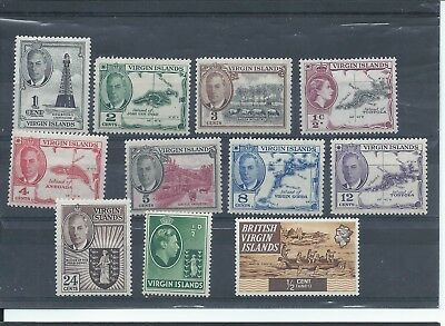 British Virgin Islands stamps Small MH lot mainly GVI 1952 partial series (C160)