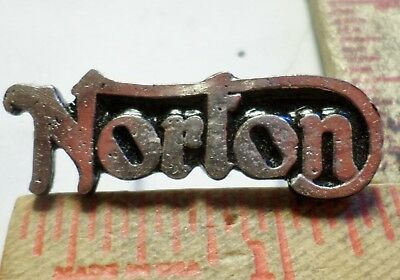 Vintage Norton Motorcycle pin collectible old classic British biker vest pinback