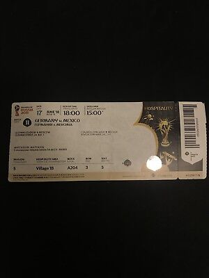 Ticket FIFA WM Match 11 Germany - Mexico Deutschland DFB Mexiko VIP World Cup