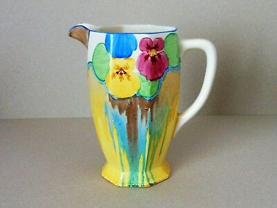 "CLARICE CLIFF 7"" ATHENS JUG in DELICIA PANSIES pattern STUNNING"