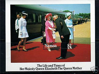 Samoa 1985 Life & Times Queen Mother MS704 MNH