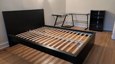 Ikea Malm Bed Frame High Low Queen Black Brown 88 00 Picclick