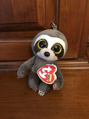a740236a9ec Ty Beanie Babies Boos Key Clip ~ DANGLER the Sloth ~ 2018 NEW IN HAND