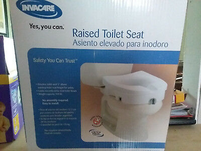 Invacare 1301RTS NEW Raised Toilet Seat No Tool Required Supports up to 300 Pnds