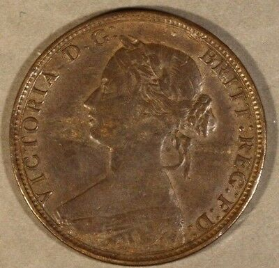 1862 Great Britain 1/2 Penny                      ** FREE U.S. SHIPPING **