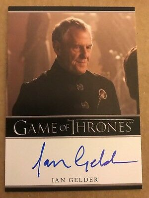 Game Of Thrones - Season 7: Bordered Autograph Card: Ian Gelder As Kevan