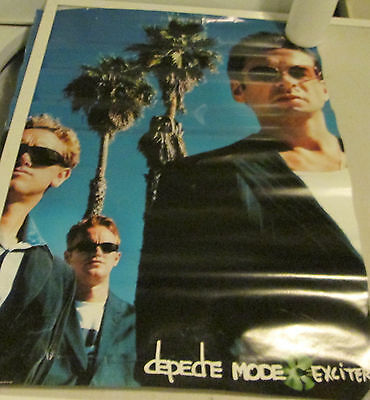 Depeche Mode Poster Rock 2001 Record Store Promo Collectable Display Vintage