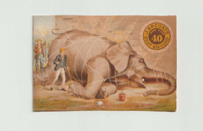 Victorian Trade Card,  Jumbo Tied Up With Thread, J& P Coats