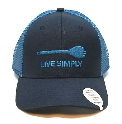 7831003895f Patagonia Live Simply Spork Trucker Hat New One Size Smolder Blue Ships in  a Box