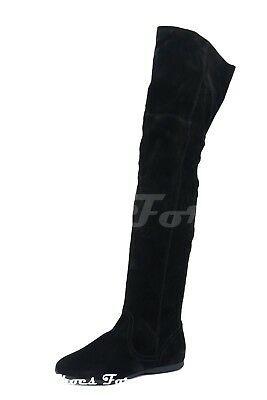 4aea235f572 ALDO  OLENA  OVER The Knee Boots New Black Suede 8.5M -  179.99 ...