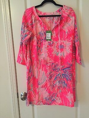 4e90e80666a NWT LILLY PULITZER Del Lago Tunic Dress Never Been Betta Large L ...