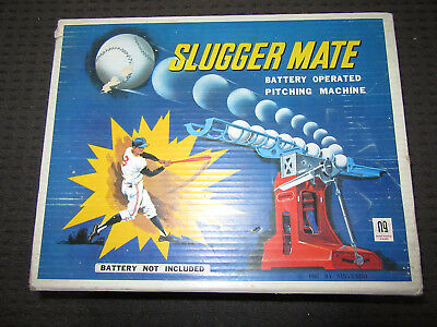 Nintendo Slugger Mate Battery Operated Baseball Pitching Machine Toy In Box 1967
