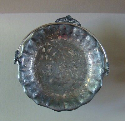 James Tufts Silverplate Brides Basket - Handled Footed Cake Plate - Victorian