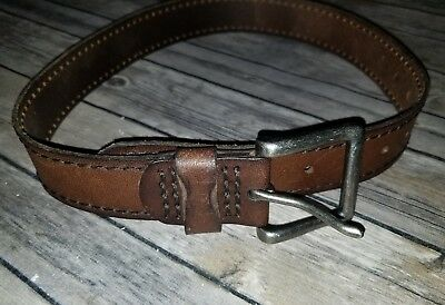 NEW Boys Abercrombie and Fitch Brown Leather Belt Size Small Medium