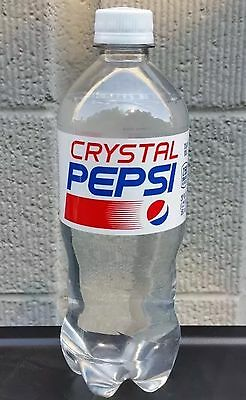 LOT OF 2 CRYSTAL PEPSI 20oz Bottle Soda Clear Cola 2016 Limited Release NEW