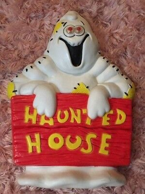 VINTAGE Paper Magic Group Halloween Ghost Light Wall Plaque Decoration 1997
