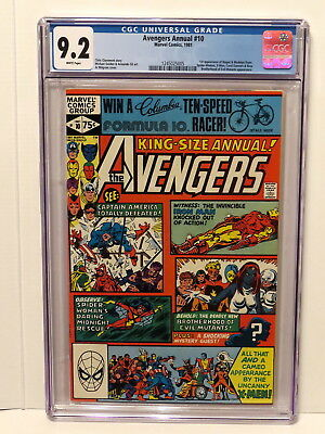 Avengers Annual #10 1St App Rogue & Madelyn Pryor X-Men White Pages 1981 Cgc 9.2