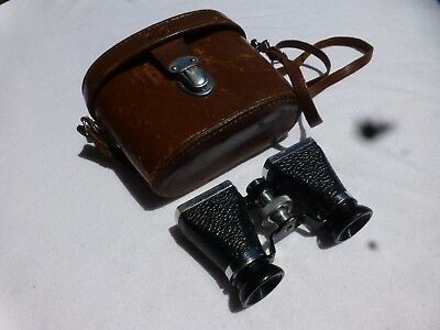 Vintage OFUNA Binoculars/Opera Glasses & Leather Case -Made in Occupied Japan