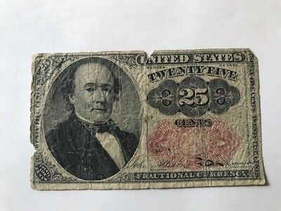 1874 United States 25c Fractional Currency
