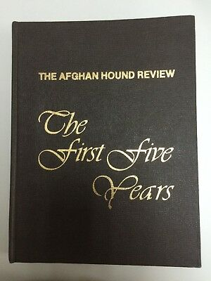 """Afghan Hound Review Book """"The First Five Years"""""""