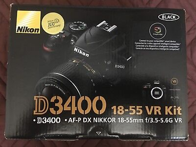 ****NEW***  Nikon D3400 24.2MP Digital SLR Camera VR Kit w/ AF-P DX 18-55mm Lens