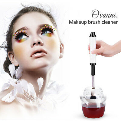 Electric Makeup Cosmetic Brush Cleaner Dryer 360° Washing Machine Tools Set NEW