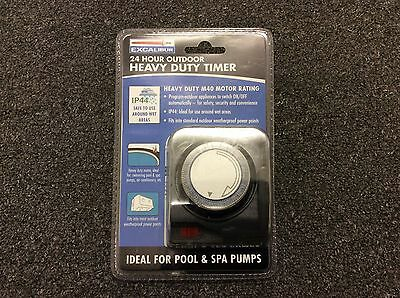 Outdoor Timer Heavy Duty  -Weatherproof Ideal For  Pool, Pumps, Lights