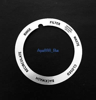 Onga Sand Filter Multiport Valve- Label Plate/Decal Replacement