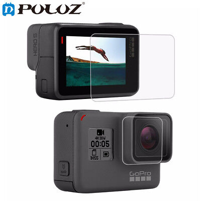 PULUZ Lens HD Screen Protector + LCD Display Tempered Glass Film For GoPro HERO7