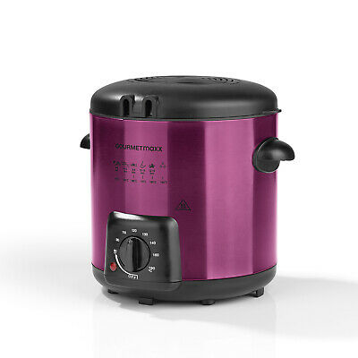 GOURMETmaxx Multi-Fritteuse 2in1 Fondue Deluxe 840W | Color-Edition: Beere