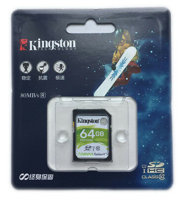 8GB 16GB 32GB 64GB Kingston SD SDHC/XC Class10 Memory Card f.Canon Nikon SD10VG2