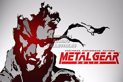 121772 Metal Gear Solid Snake Decor WALL PRINT POSTER UK