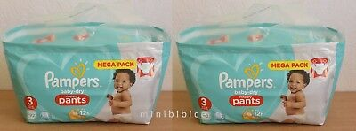 184 Couches Culottes Pampers baby-dry Nappy Pants 2 x Mega Pack 92 Taille 3 RCOL