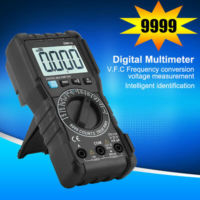 True RMS LCD Digital Auto Range Multimeter AC/DC Tester Meter Handheld Black