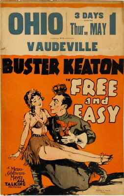 130233 Buster Keaton Free & easy 1930 vintage Decor WALL PRINT POSTER US
