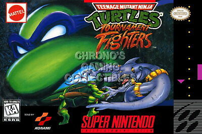 123444 TMNT Tournament FighterSuper Nintendo Decor WALL PRINT POSTER CA